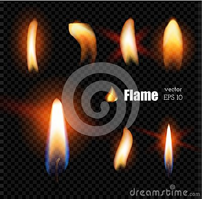 Free Vector Realistic Candle Fire Lighter Flame Stock Image - 108785131