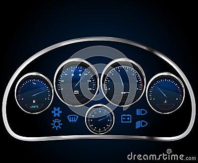 Vector realistic car dashboard