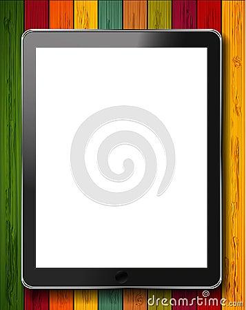 Vector realistic computer tablet