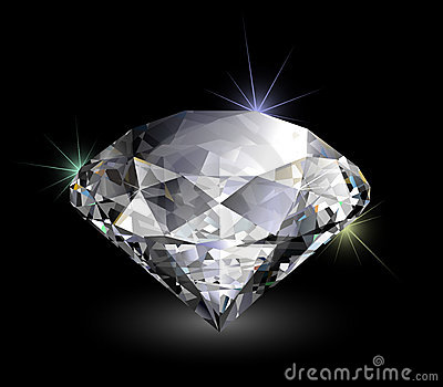 Vector realistic diamond
