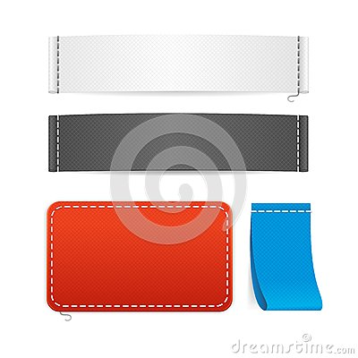 vector realistic fabric clothing labels set stock vector image 57158030. Black Bedroom Furniture Sets. Home Design Ideas