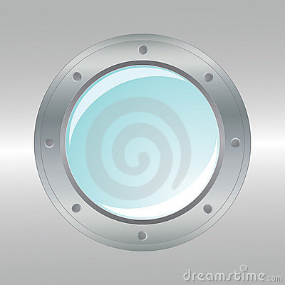 Vector realistic metallic porthole.