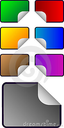 Vector rectangular shaped stickers