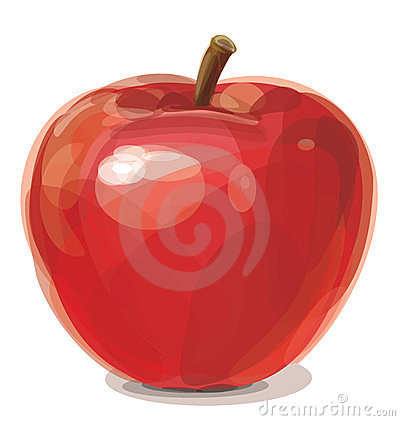 Vector of red apple.