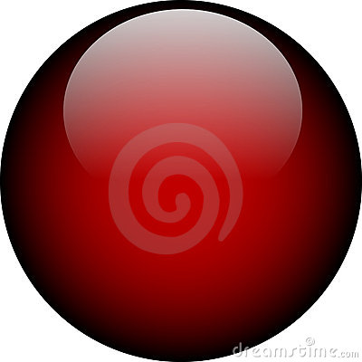 Free Vector Red Glass Button Stock Image - 2723471