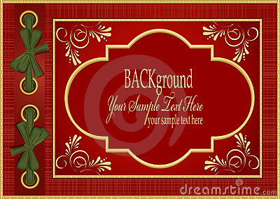 Vector red with gold pattern album for your photos