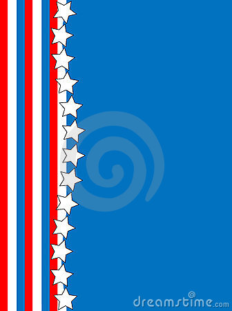 Vector Red White Blue Star Striped Background
