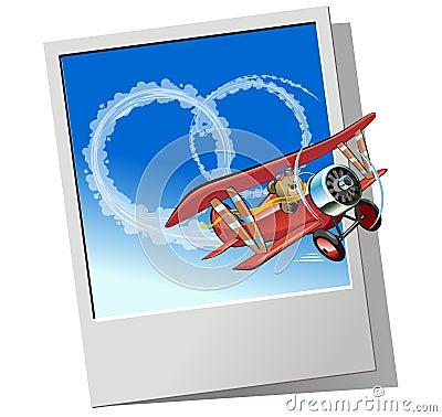 Vector retro airplane