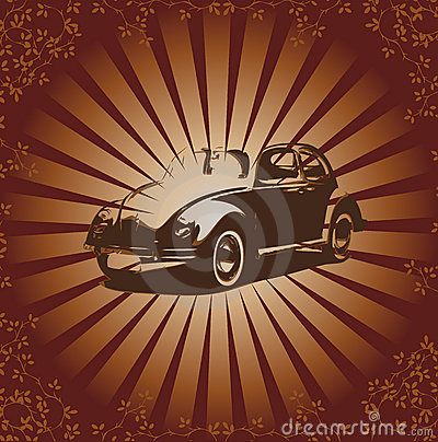 Vector retro beetle