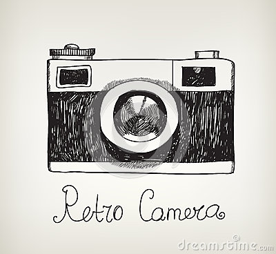 Free Vector Retro Hand Drawn Hipster Photo Camera Stock Photos - 48905593