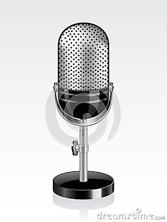 Vector retro microphone