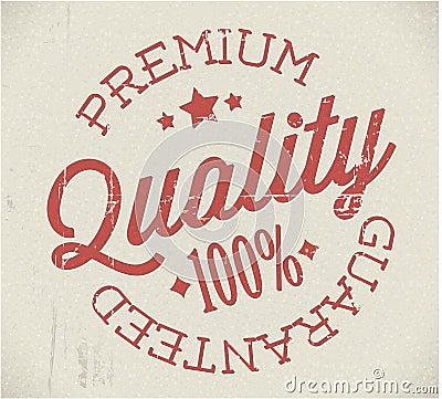 Vector retro premium quality stamp
