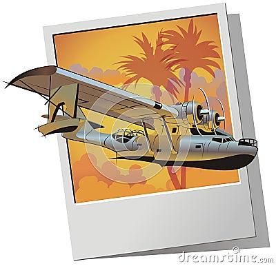 Free Vector Retro Seaplane Stock Image - 10356991