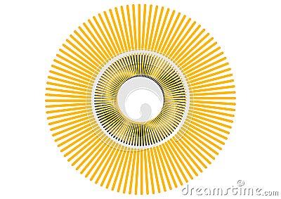 Vector retro sun