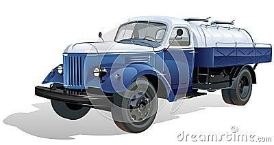Vector retro tank car