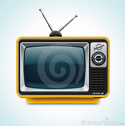 Free Vector Retro TV XXL Icon Stock Image - 19857931