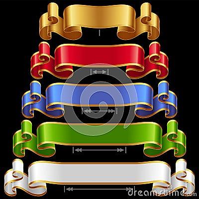 Free Vector Ribbons Set 12 Royalty Free Stock Photography - 33613097