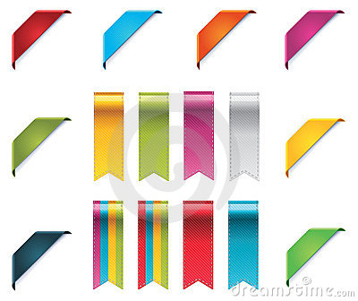 Vector Ribbons Set Stock Image - Image: 21927241