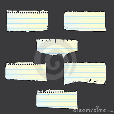 Vector ripped papers set