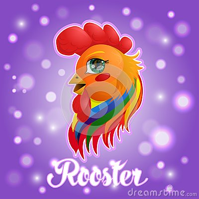 Rooster - a symbol of the year Vector Illustration