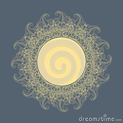 Vector round ornament (sun).