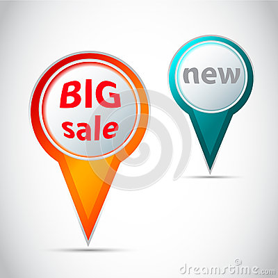 Vector Round pointer - button for big sale and new