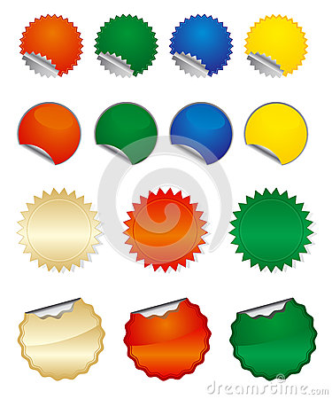 Vector round stickers