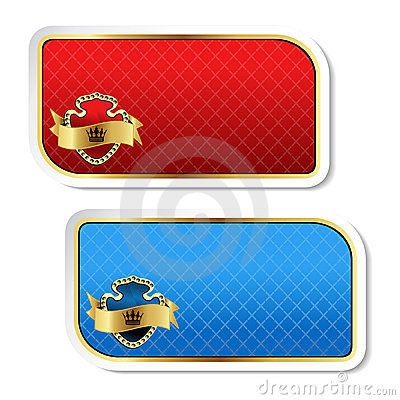 Vector royal labels