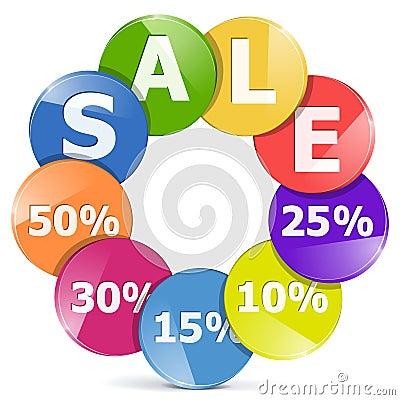 Vector Sale Concept