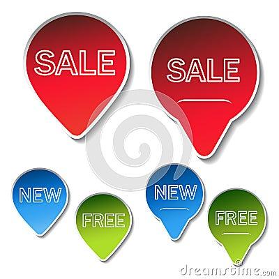 vector sale sticker