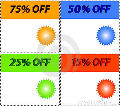 Vector. sale tag stickers with discount