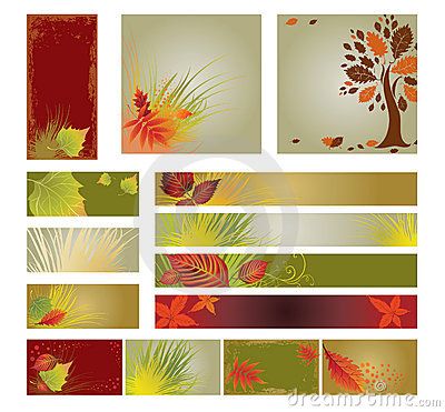 Free Vector Samples Of Web-design (banners) With Tree. Stock Image - 16466761