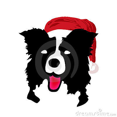 Vector santa christmas dog