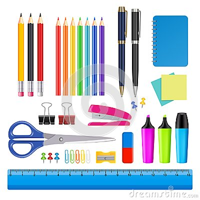 Free Vector School And Office Supplies Icon Set Stock Image - 100329501