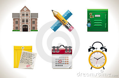 Vector school icons. Part 1