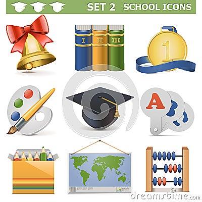 Vector School Icons Set 2