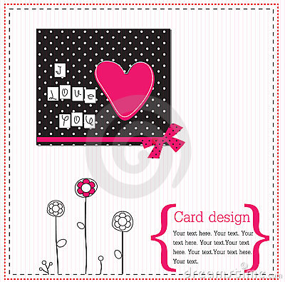 Vector scrap card
