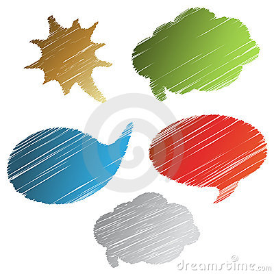 Vector scratch speech bubbles