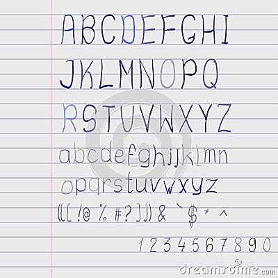 Free Vector Scribble Alphabet Stock Image - 43484391
