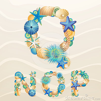 Free Vector Sea Life Font On Sand Background Stock Photos - 24554653