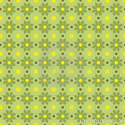 Vector Seamles Geometric Green Pattern