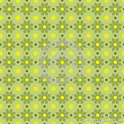 Vector Seamles Geometric Green Pattern