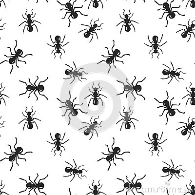 Free Vector Seamless Ant Colony Insect Pattern Royalty Free Stock Photo - 64031065