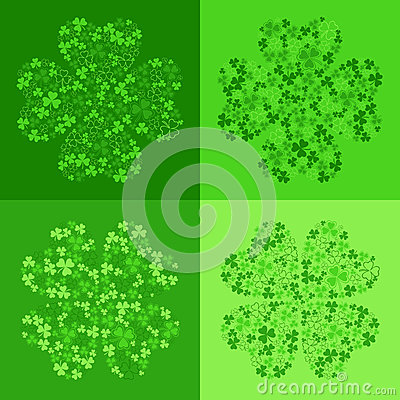 vector seamless background with clover