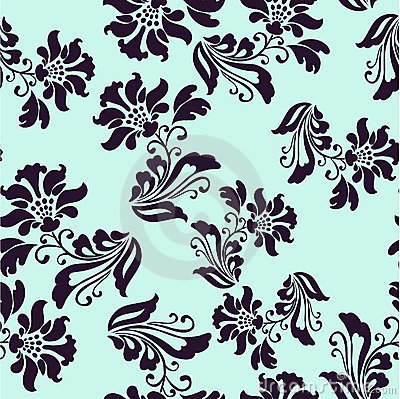 Vector seamless background with flowers