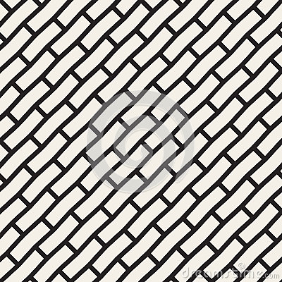 Free Vector Seamless Black And White Brick Pavement Diagonal Lines Pattern Stock Photography - 73071542