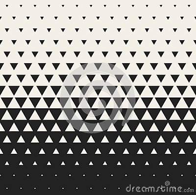 Free Vector Seamless Black And White Morphing Triangle Halftone Grid Gradient Pattern Geometric Background Royalty Free Stock Images - 62199779