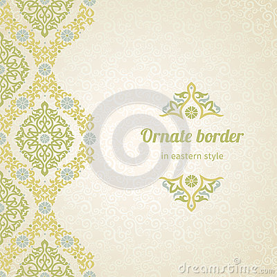 Free Vector Seamless Border In Eastern Style. Stock Images - 46963014
