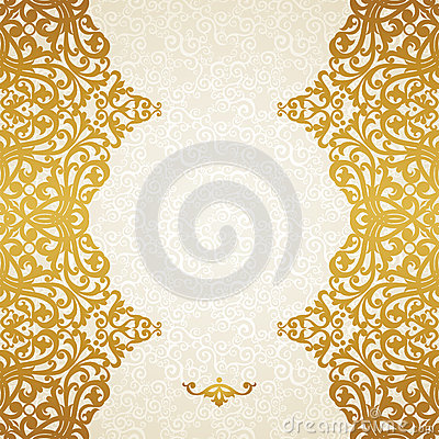 Free Vector Seamless Border In Victorian Style. Stock Photo - 37785110