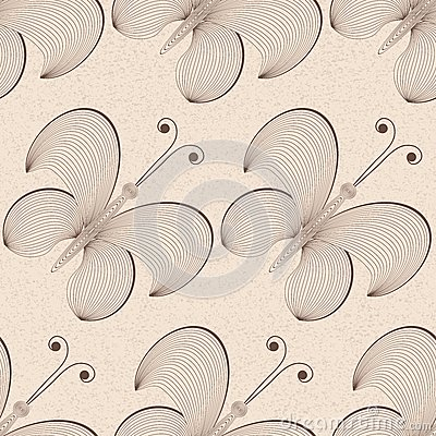 Vector seamless butterfly background